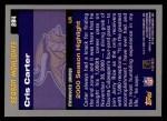 2001 Topps #284  Cris Carter  Back Thumbnail