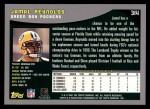 2001 Topps #314  Jamal Reynolds  Back Thumbnail
