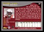 2001 Topps #317  Michael Stone  Back Thumbnail