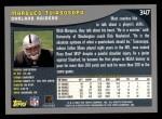 2001 Topps #347  Marques Tuiasosopo  Back Thumbnail
