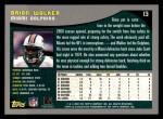 2001 Topps #13  Brian Walker  Back Thumbnail