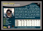 2001 Topps #23  Kevin Hardy  Back Thumbnail
