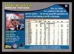 2001 Topps #61  Steve Beuerlein  Back Thumbnail