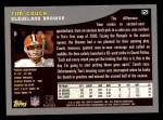 2001 Topps #121  Tim Couch  Back Thumbnail