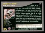 2001 Topps #129  Anthony Becht  Back Thumbnail