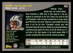 2001 Topps #155  Chad Pennington  Back Thumbnail
