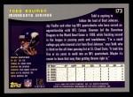 2001 Topps #173  Todd Bouman  Back Thumbnail