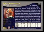 2001 Topps #198  Matt Hasselbeck  Back Thumbnail