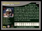 2001 Topps #242  Laveranues Coles  Back Thumbnail