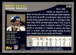 2001 Topps #246  Brian Griese  Back Thumbnail