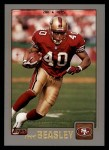 2001 Topps #249  Fred Beasley  Front Thumbnail
