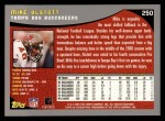 2001 Topps #250  Mike Alstott  Back Thumbnail