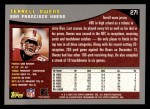 2001 Topps #271  Terrell Owens  Back Thumbnail