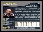 2001 Topps #291  Takeo Spikes  Back Thumbnail