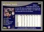 2001 Topps #295  Tony Siragusa  Back Thumbnail