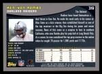 2001 Topps #319  Ken-Yon Rambo  Back Thumbnail