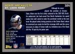 2001 Topps #324  Adam Archuleta  Back Thumbnail