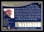 2001 Topps #341  Nate Clements  Back Thumbnail