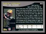 2001 Topps #363  Robert Ferguson  Back Thumbnail