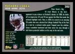 2001 Topps #382  Rashard Casey  Back Thumbnail