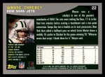 2001 Topps #22  Wayne Chrebet  Back Thumbnail