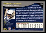 2001 Topps #43  Terrence Wilkins  Back Thumbnail