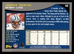 2001 Topps #46  Johnnie Morton  Back Thumbnail