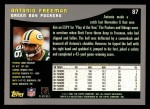 2001 Topps #87  Antonio Freeman  Back Thumbnail