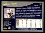 2001 Topps #90  Chris Sanders  Back Thumbnail