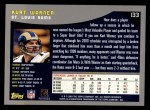 2001 Topps #133  Kurt Warner  Back Thumbnail