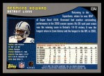 2001 Topps #134  Desmond Howard  Back Thumbnail