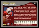 2001 Topps #135  Thomas Jones  Back Thumbnail