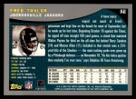 2001 Topps #141  Fred Taylor  Back Thumbnail