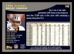 2001 Topps #148  Troy Aikman  Back Thumbnail