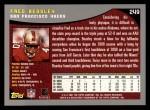2001 Topps #249  Fred Beasley  Back Thumbnail