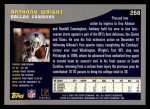 2001 Topps #268  Anthony Wright  Back Thumbnail