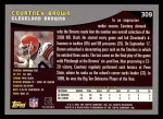 2001 Topps #309  Courtney Brown  Back Thumbnail