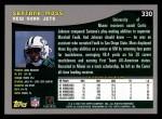 2001 Topps #330  Santana Moss  Back Thumbnail