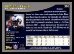 2001 Topps #365  Damione Lewis  Back Thumbnail