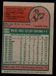 1975 Topps Mini #410  Mike Cuellar  Back Thumbnail