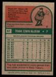 1975 Topps Mini #67  Tug McGraw  Back Thumbnail