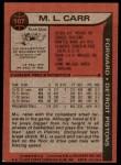 1979 Topps #107  M.L. Carr  Back Thumbnail
