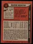 1979 Topps #88  Marvin Webster  Back Thumbnail