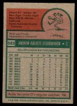 1975 Topps Mini #583  Andy Etchebarren  Back Thumbnail
