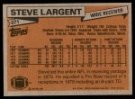 1981 Topps #271  Steve Largent  Back Thumbnail