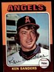1975 Topps Mini #366  Ken Sanders  Front Thumbnail
