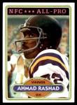 1980 Topps #467  Ahmad Rashad  Front Thumbnail