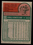 1975 Topps Mini #610  Ron Hunt  Back Thumbnail
