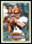 1980 Topps #388  Ken Anderson  Front Thumbnail