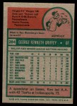 1975 Topps Mini #284  Ken Griffey  Back Thumbnail